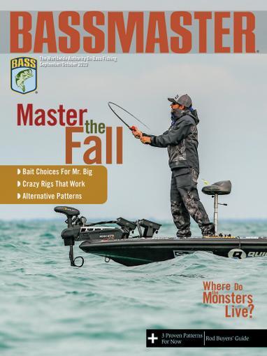Bassmaster Magazine September 1st, 2020 Issue Cover