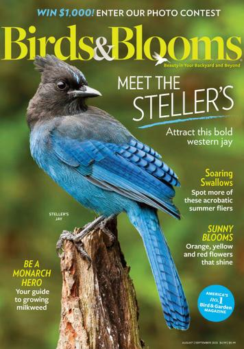 Birds & Blooms Magazine August 1st, 2020 Issue Cover