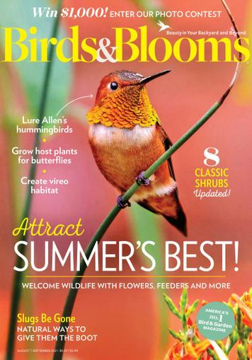Birds & Blooms Magazine August 1st, 2021 Issue Cover