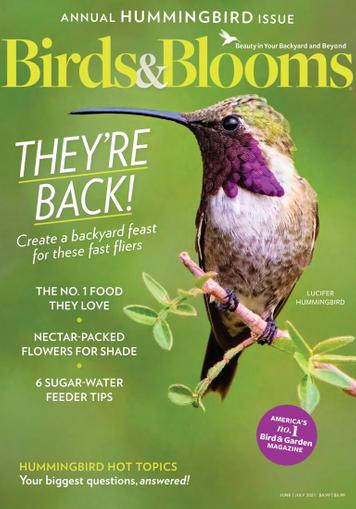 Birds & Blooms Magazine June 1st, 2021 Issue Cover