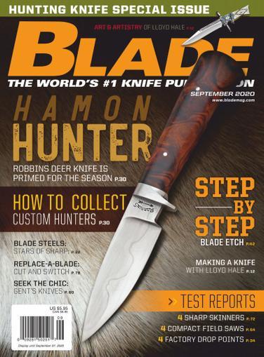 Blade Magazine September 1st, 2020 Issue Cover