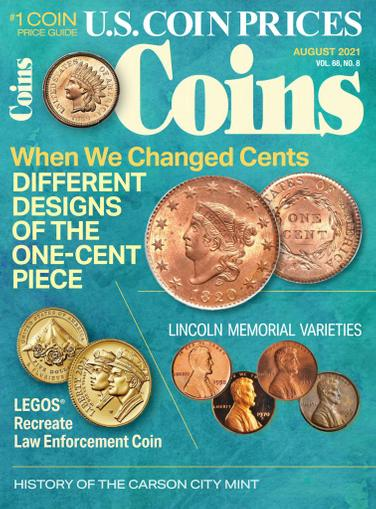 Coins Magazine August 1st, 2021 Issue Cover