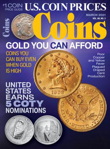 Coins Magazine March 1st, 2021 Issue Cover