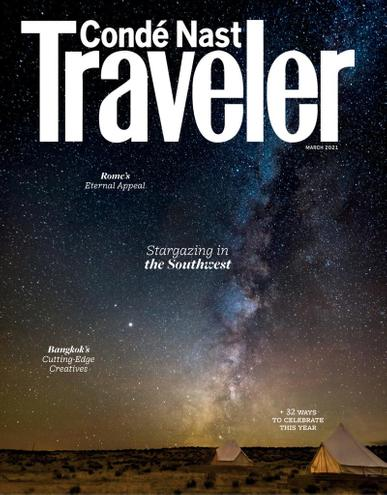 Conde Nast Traveler Magazine March 1st, 2021 Issue Cover