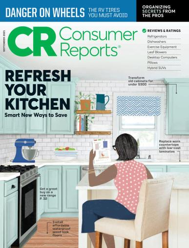 Consumer Reports Magazine September 1st, 2021 Issue Cover