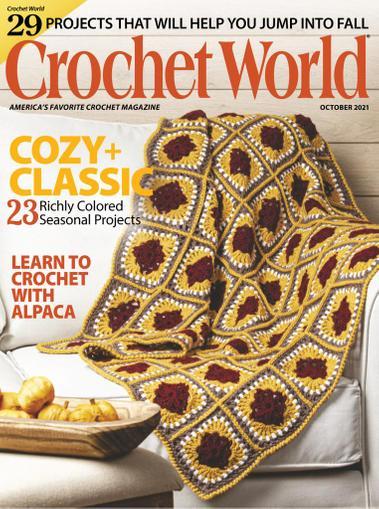Crochet World Magazine October 1st, 2021 Issue Cover