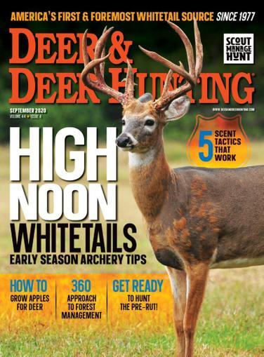 Deer & Deer Hunting Magazine September 1st, 2020 Issue Cover
