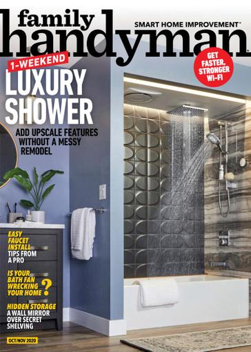 Family Handyman Magazine October 1st, 2020 Issue Cover