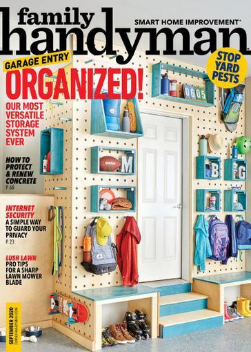 Family Handyman Magazine September 1st, 2020 Issue Cover