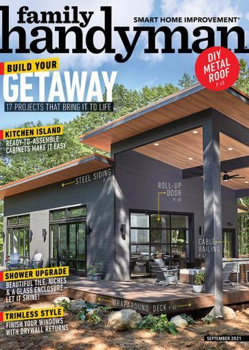 Family Handyman Magazine September 1st, 2021 Issue Cover