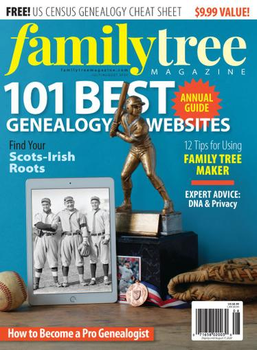 Family Tree Magazine July 1st, 2020 Issue Cover