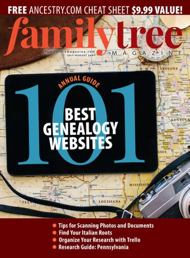 Family Tree Magazine July 1st, 2021 Issue Cover