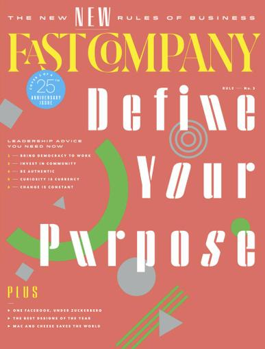 Fast Company Magazine October 1st, 2020 Issue Cover