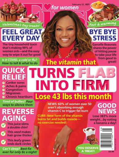 First for Women Magazine February 22nd, 2021 Issue Cover