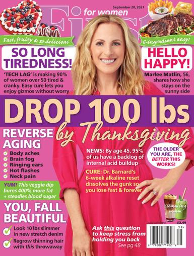 First for Women Magazine September 20th, 2021 Issue Cover