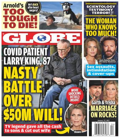 Globe Magazine January 25th, 2021 Issue Cover