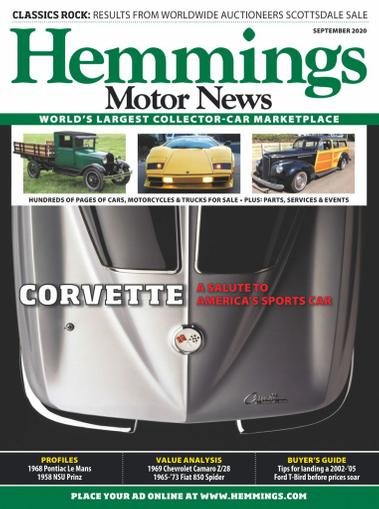 Hemmings Motor News Magazine September 1st, 2020 Issue Cover