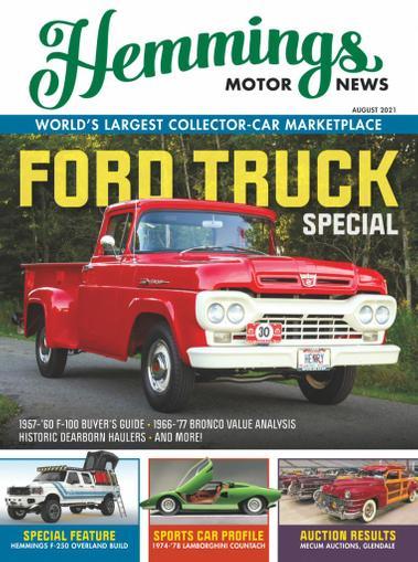 Hemmings Motor News Magazine August 1st, 2021 Issue Cover