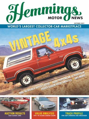 Hemmings Motor News Magazine October 1st, 2021 Issue Cover