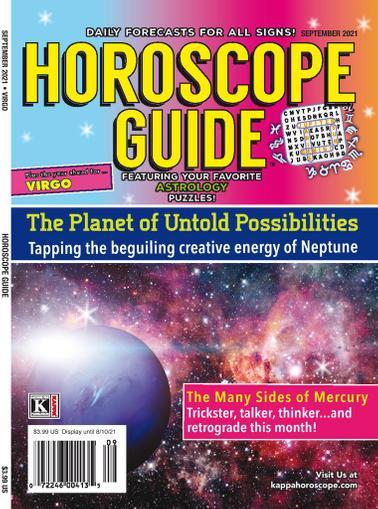 Horoscope Guide Magazine September 1st, 2021 Issue Cover