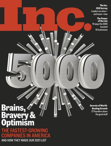 INC Magazine September 1st, 2021 Issue Cover