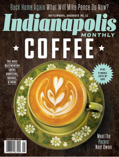 Indianapolis Monthly Magazine January 1st, 2021 Issue Cover