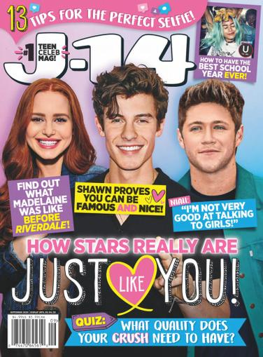 J-14 Magazine September 1st, 2020 Issue Cover