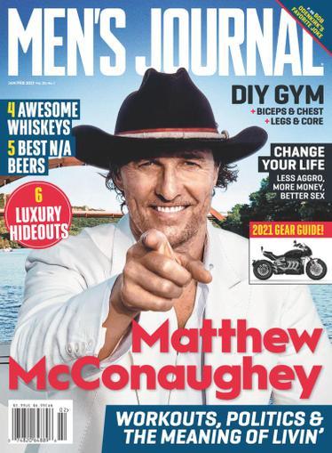 Men's Journal Magazine January 1st, 2021 Issue Cover