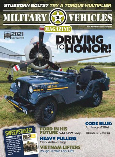 Military Vehicles Magazine February 1st, 2021 Issue Cover