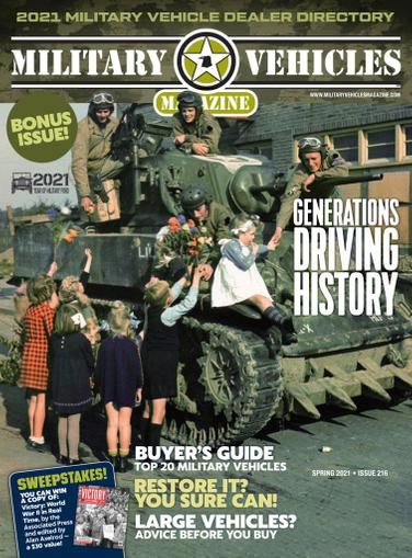Military Vehicles Magazine March 2nd, 2021 Issue Cover