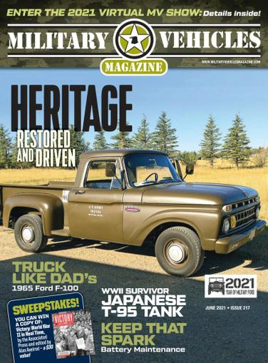Military Vehicles Magazine May 1st, 2021 Issue Cover