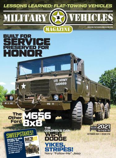 Military Vehicles Magazine September 1st, 2021 Issue Cover