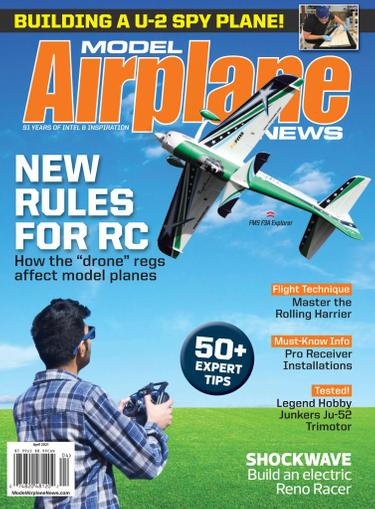 Model Airplane News Magazine April 1st, 2021 Issue Cover