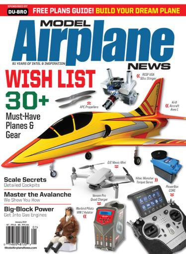 Model Airplane News Magazine January 1st, 2021 Issue Cover