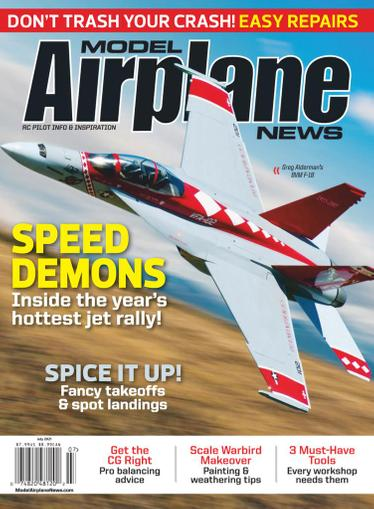 Model Airplane News Magazine July 1st, 2021 Issue Cover