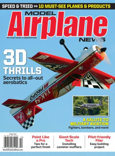 Model Airplane News Magazine October 1st, 2021 Issue Cover