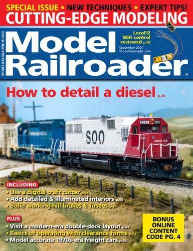 Model Railroader Magazine September 1st, 2020 Issue Cover