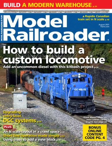 Model Railroader Magazine August 1st, 2021 Issue Cover