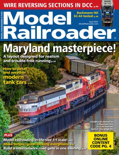 Model Railroader Magazine March 2nd, 2021 Issue Cover
