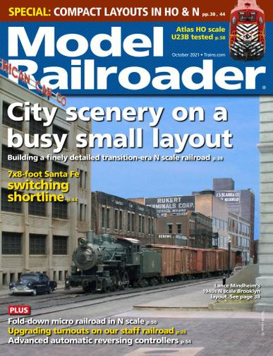 Model Railroader Magazine October 1st, 2021 Issue Cover