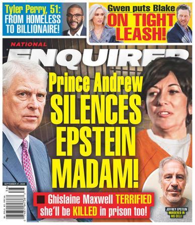 National Enquirer Magazine September 21st, 2020 Issue Cover