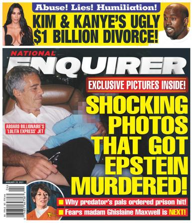 National Enquirer Magazine January 25th, 2021 Issue Cover