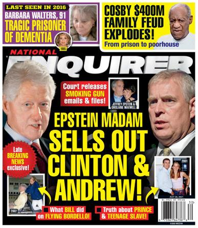 National Enquirer Magazine July 26th, 2021 Issue Cover
