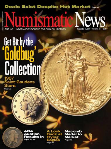 Numismatic News Magazine September 15th, 2020 Issue Cover
