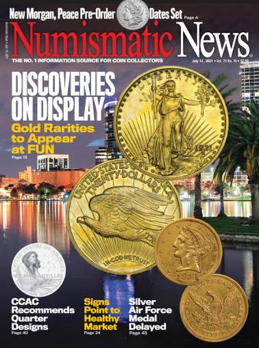 Numismatic News Magazine July 13th, 2021 Issue Cover