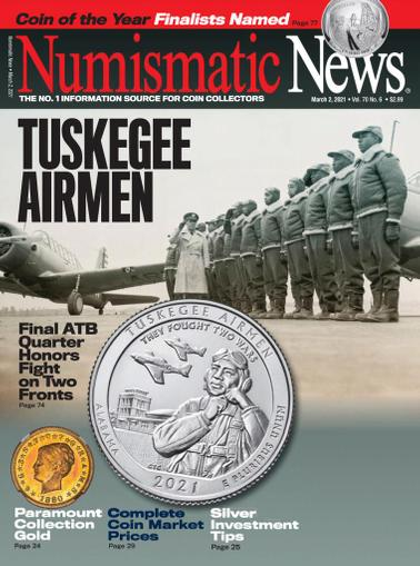 Numismatic News Magazine March 2nd, 2021 Issue Cover