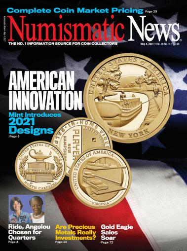 Numismatic News Magazine May 4th, 2021 Issue Cover