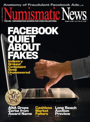 Numismatic News Magazine October 12th, 2021 Issue Cover