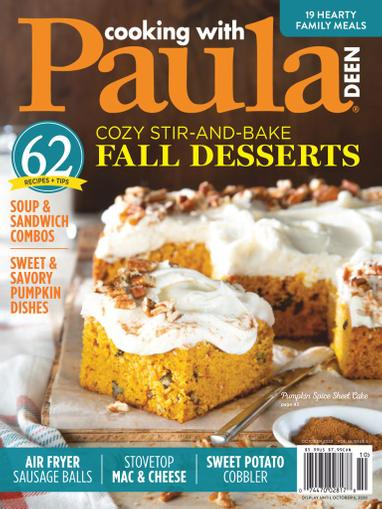 Cooking With Paula Deen Magazine October 1st, 2020 Issue Cover