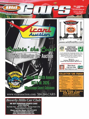 Old Cars Weekly Magazine September 24th, 2020 Issue Cover